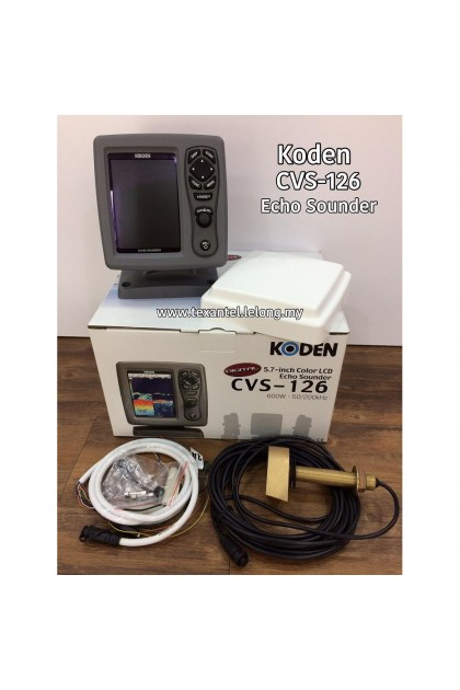 Koden CVS-126 Digital Echo Sounder with 5.7-inch Color LCD