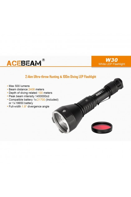 Acebeam W30 Ultra-Throw Hunting up to 2408 Meter LEP Flashlight