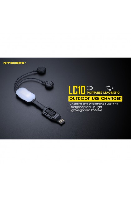 Nitecore LC10 Portable Magnetic USB Charger and Powerbank