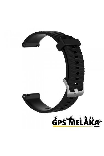 Silicone Band Strap For Garmin Vivoactive 3, Vivomove HR, Forerunner 645 (Black)