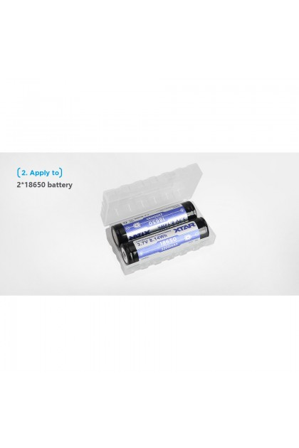 Xtar Battery Case for 2 pcs 18650/18700 or 4 pcs 16340