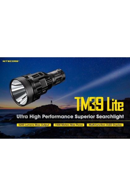 Nitecore TM39 Lite with LUMINUS SBT-90 GEN2 LED Flashlight - 1500 Meters Throw